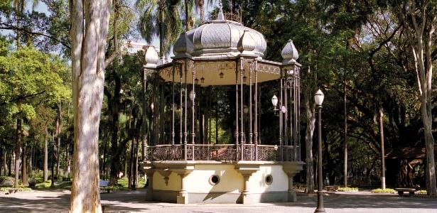 Coreto do Jardim da Luz após a restauração e revitalização do parque paulistano em 2000 - Jota Racy/Divulgação