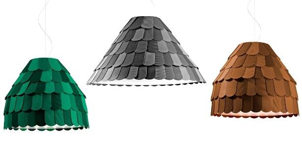 As luminárias Roofer, de Benjamin Hubert para a Fabbian  - Divulgação