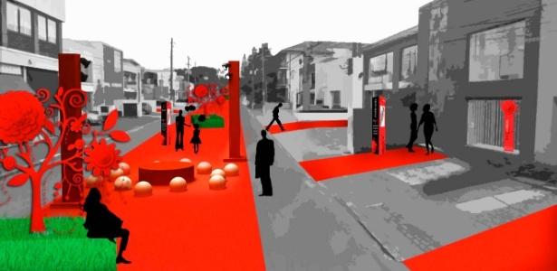 Perspectiva artística de estação de malabares do evento de rua Avant Gabriel Chandon - Divulgação