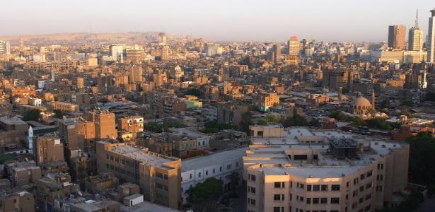 Panorama da cidade do Cairo, Egito, vista de cima