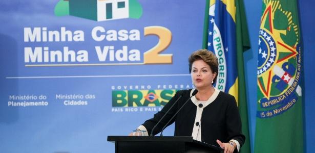 Presidente Dilma Rousseff participa no Palacio do Planalto de cerimônia de lançamento do programa Minha Casa, Minha Vida 2 (16/06/2011) - Sergio Lima/Folhapress