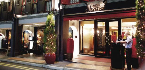 Fachada do hotel boutique Scarlet, no bairro de Chinatown da capital de Cingapura - Eduardo Vessoni / UOL