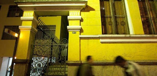 Fachada da Casa da Baronesa de Limeira, localizada perto do Largo São Francisco
