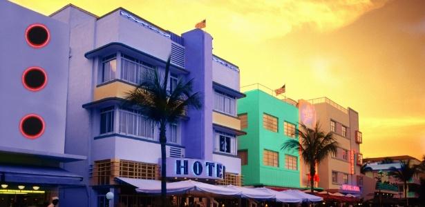 Todo um distrito da cidade de Miami, nos EUA, é dominado pelo estilo arquitetônico art déco